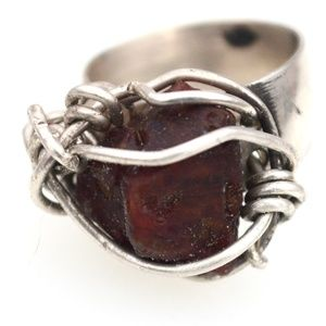 Stunning Untreated HUGE Spinel Sterling Ring 7.5